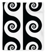 Running Spirals Fleece Blanket