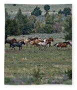 Running Wild Horses  Fleece Blanket