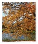 Rural Autumn Country Beauty Fleece Blanket