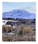 Rural Beauty Vermont Style Fleece Blanket
