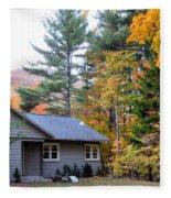 Rural Colorful Autumn Landscape 3 Fleece Blanket