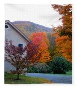 Rural Colorful Autumn Landscape 4 Fleece Blanket
