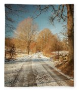 Rural Country Road Fleece Blanket