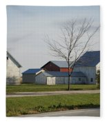 Rural Farm Central Il Fleece Blanket
