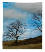 Rural Landscape - Skyline Drive Fleece Blanket