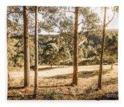 Rural Paddock In Australian Countryside Fleece Blanket