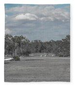 Rural Parking Fleece Blanket