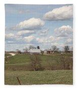 Rural Randolph County Fleece Blanket