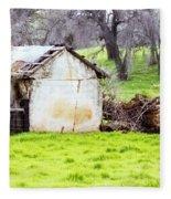 Rural Ruin Fleece Blanket