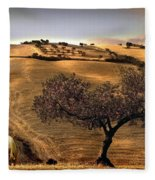 Rural Spain View Fleece Blanket