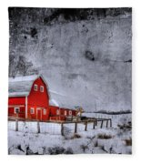 Rural Textures Fleece Blanket