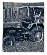 Rural Vehicle Fleece Blanket