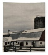 Rural Winter Fleece Blanket