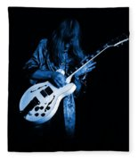 Rush 77 #15 Enhanced In Blue Fleece Blanket