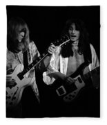 Rush 77 #46 Enhanced Bw Fleece Blanket