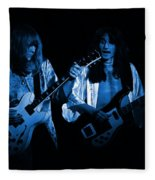 Rush 77 #46 Enhanced In Blue Fleece Blanket