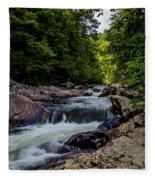 Rushing Falls In The Mountains Fleece Blanket