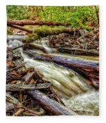 Rushing Stream Fleece Blanket