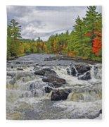 Rushing Towards Fall Fleece Blanket
