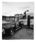 Russel Farms 1951 Ford F100 Black And White Fleece Blanket
