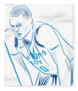 Russell Westbrook Resting Fleece Blanket