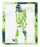 Russell Wilson Seattle Seahawks Water Color Art 2 Fleece Blanket