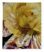 Russet And Umber Iris Fleece Blanket