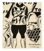 Russia: Mechanic, 1918 Fleece Blanket