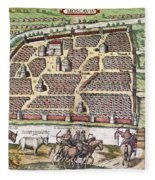 Russia: Moscow, 1591 Fleece Blanket