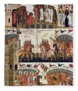 Russia: Novgorod Fleece Blanket