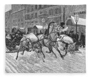 Russia: Troika, 1888 Fleece Blanket