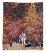 Russian Hunting Fleece Blanket