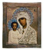 Russian Icon: Mary Fleece Blanket