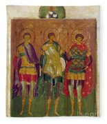 Russian Icon: Saints Fleece Blanket