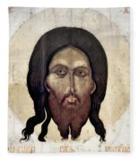 Russian Icon: The Savior Fleece Blanket