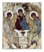 Russian Icons: The Trinity Fleece Blanket