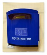 Russian Mailbox Fleece Blanket