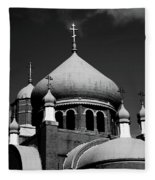 Russian Orthodox Church Bw Fleece Blanket