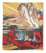 Russian Poster Fleece Blanket
