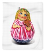 Russian Roly Poly Doll Music Doll Fleece Blanket