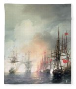 Russian Turkish Sea Battle Of Sinop Fleece Blanket