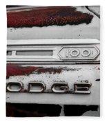Rust Dodge 6 Selective Color Fleece Blanket