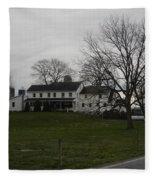 Rustic Amish Farmstead Fleece Blanket