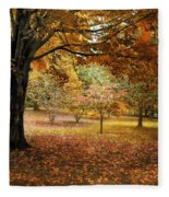 Rustic Autumn  Fleece Blanket
