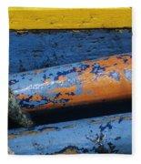 Rustic Boat Fleece Blanket