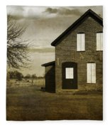 Rustic County Farm House Fleece Blanket