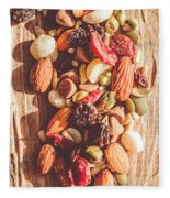 Rustic Dried Fruit And Nut Mix Fleece Blanket