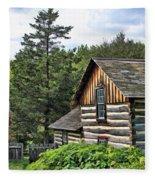 Rustic Farmhouse At Old World Wisconsin Fleece Blanket