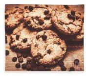 Rustic Kitchen Cookie Art Fleece Blanket
