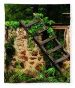 Rustic Ladder Fleece Blanket